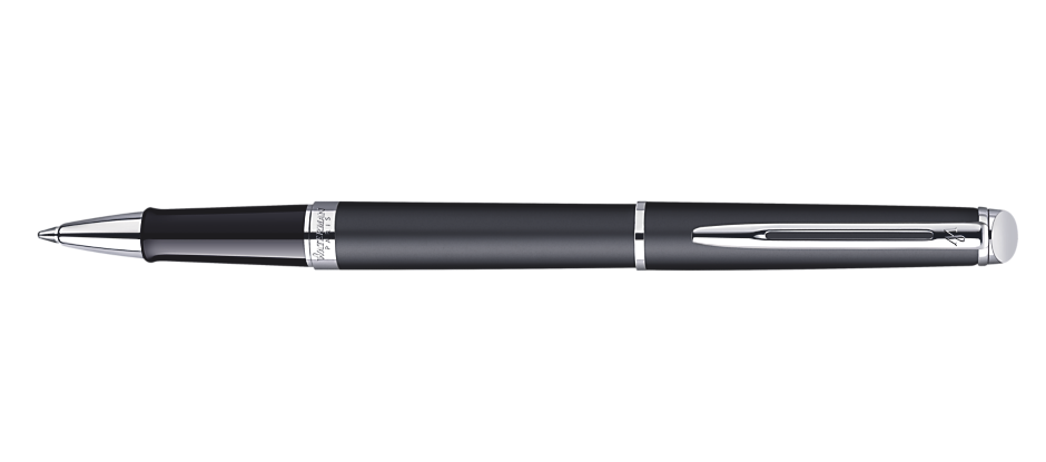 Waterman Hemisphere Matte Black Chrome Trim RB