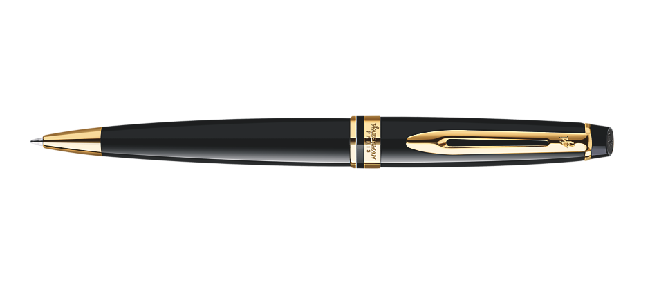Waterman Expert Black Lacquer Gold Trim BP