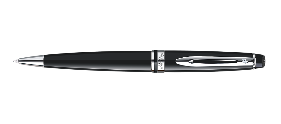 Waterman Expert Black Lacquer Chrome Trim BP