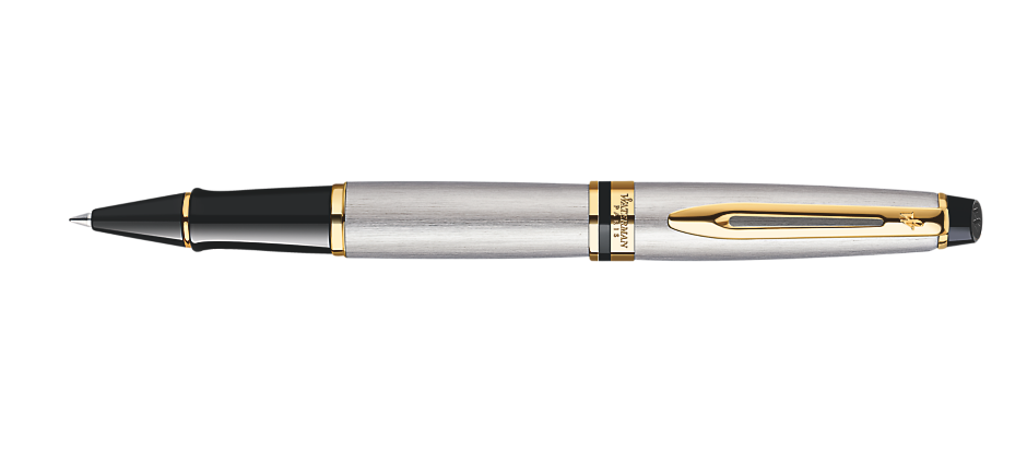 Waterman Expert Stainless Steel Gold Trim RB