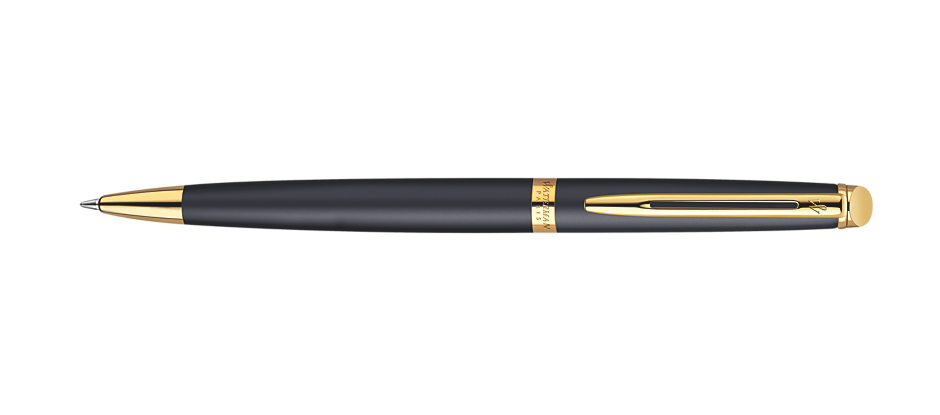 Waterman Hemisphere Matte Black Gold Trim BP