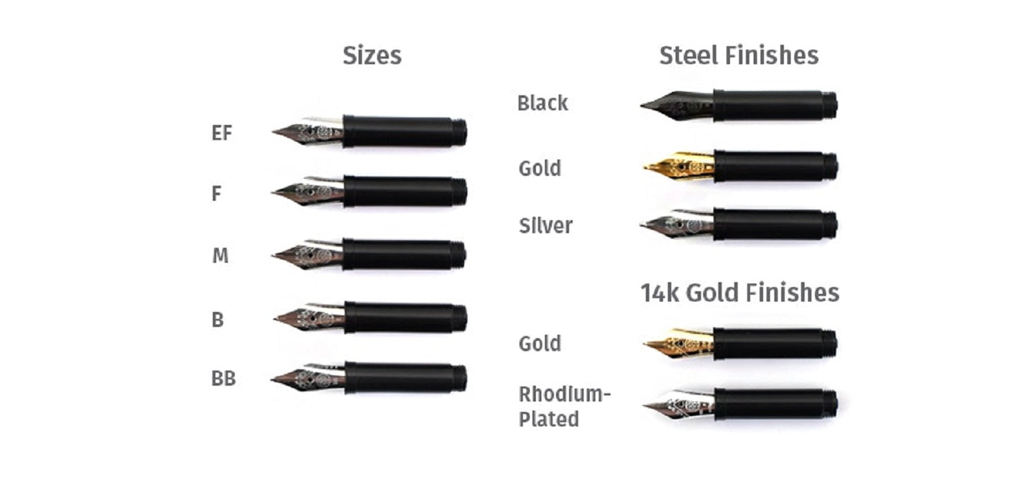 Liliput /& Sport Series Stainless Steel Gold Plated for DIA2 Kaweco 060 Nib