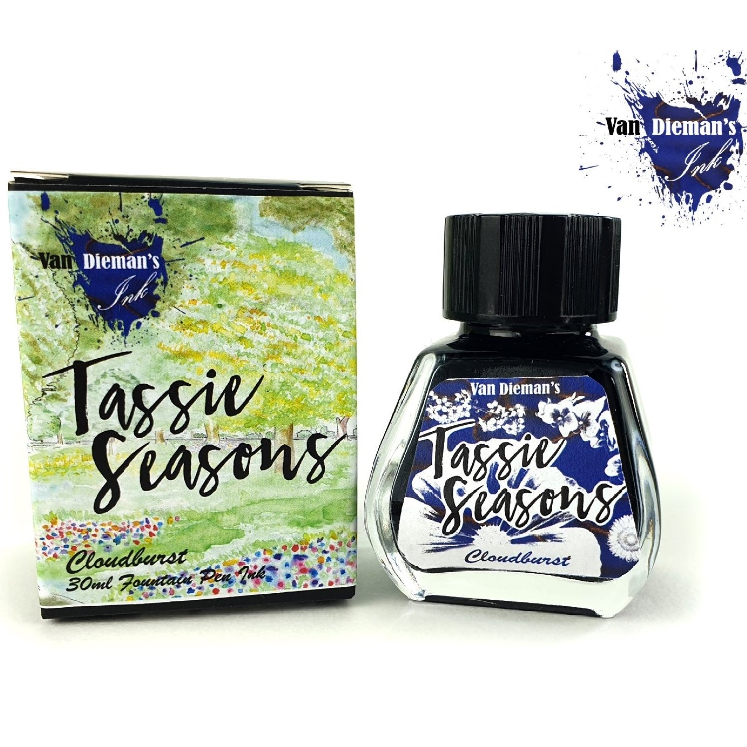 Van Diemans Tassie Seasons (Spring) Cloudburst Ink 30ml