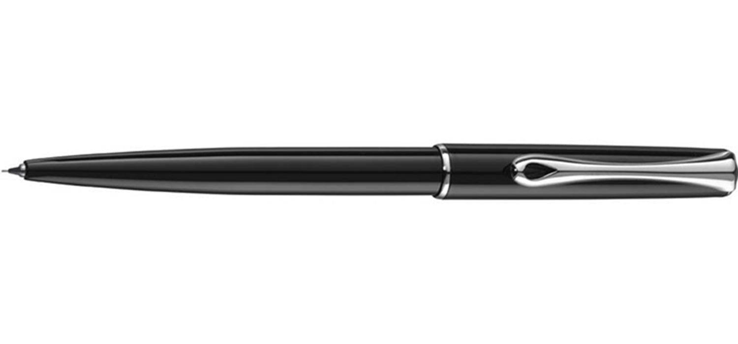 Diplomat Traveller Mechanical Pencil 0.5mm - Black Lacquer /Chrome Trim