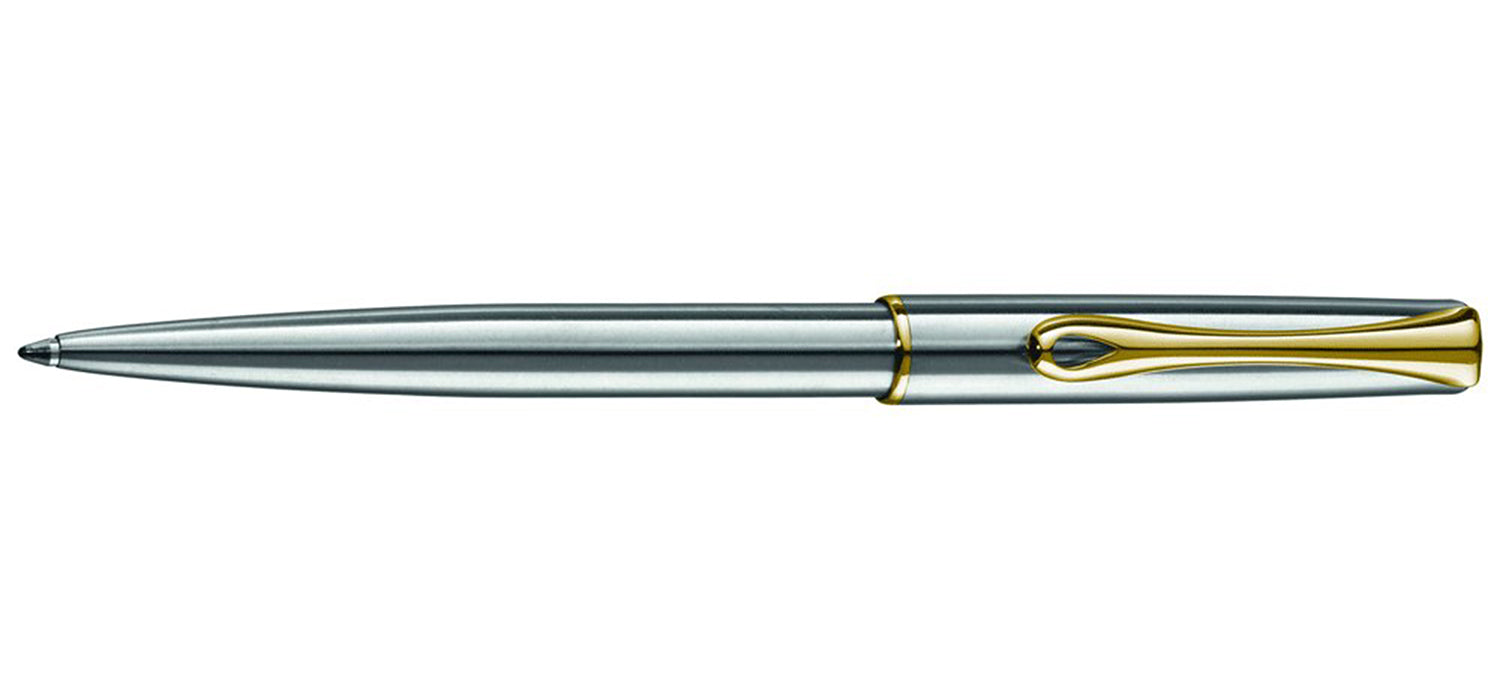 Diplomat TRAVELLER STAINLESS / GOLD TRIM Ball Pen BP