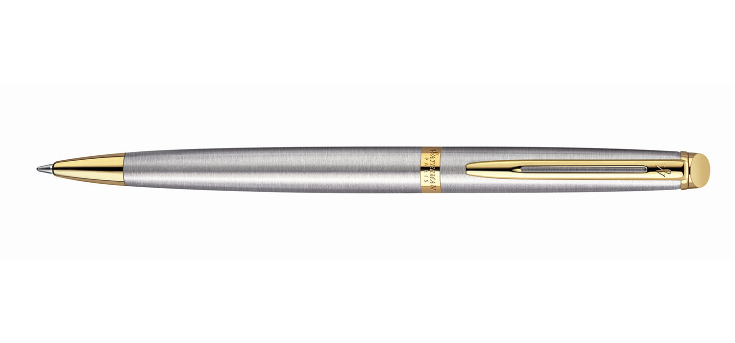 Waterman Hemisphere BP Stainless Steel Gold Trim