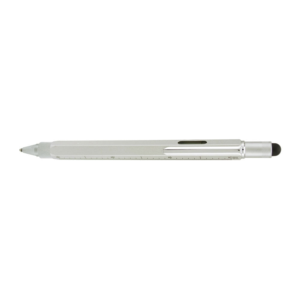 Monteverde TOOL PEN BP STYLUS Multi ruler level Silver