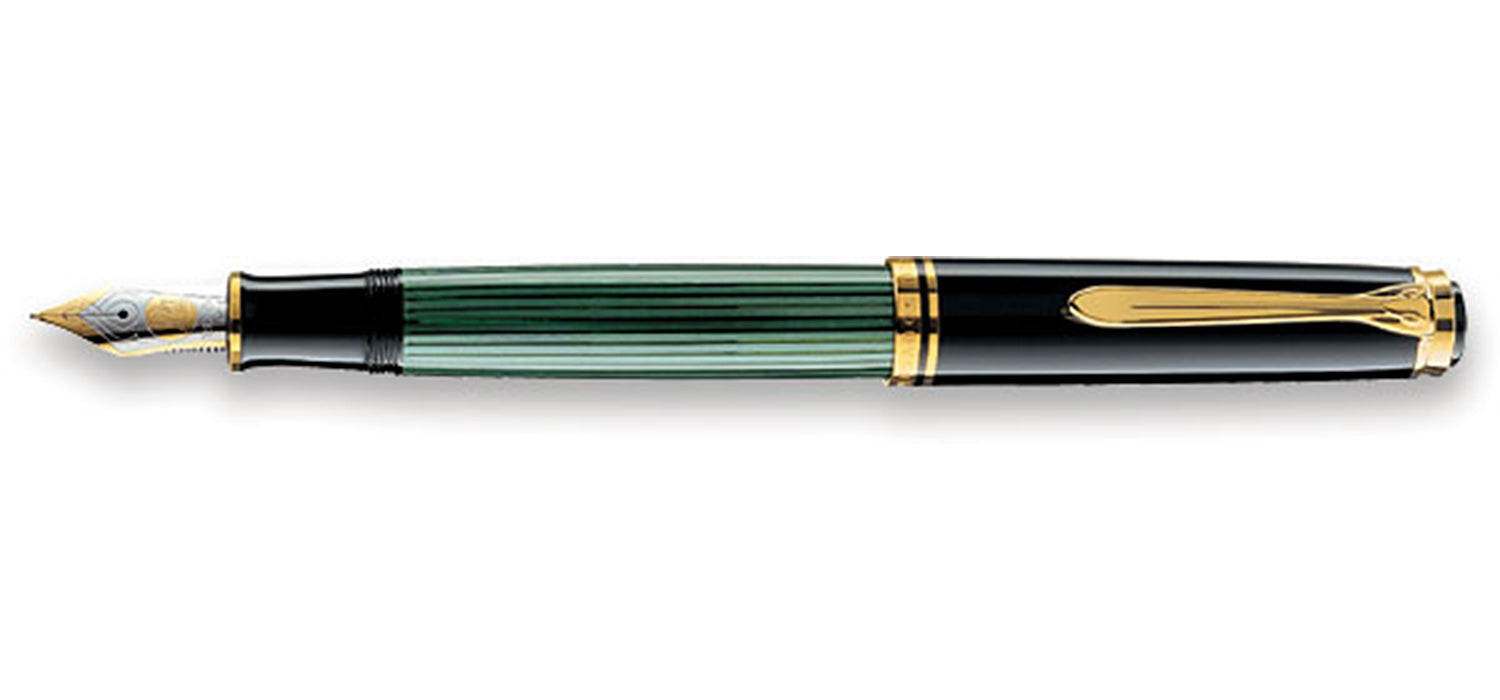 Pelikan M 800 Souveran Black/green FP with gold M 18ct