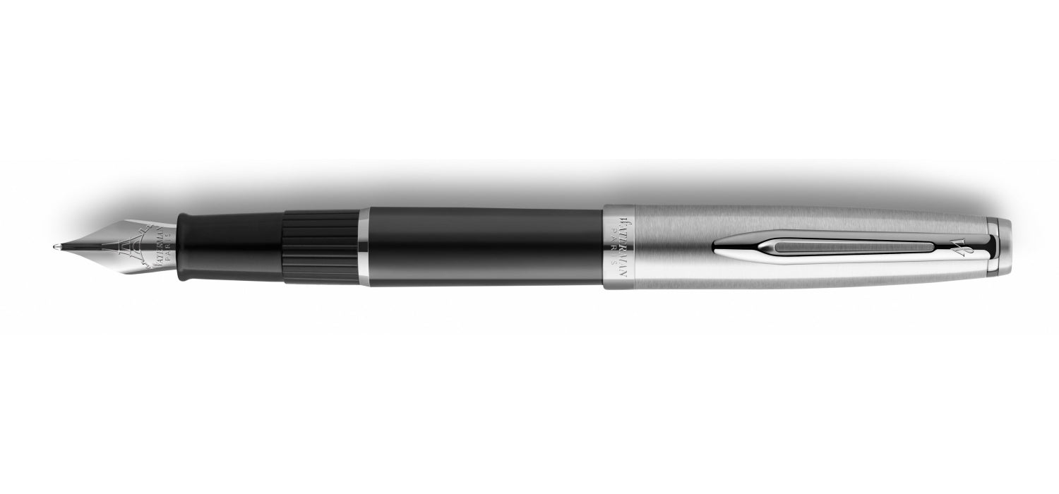 Waterman Embleme Black Chrome Trim FP
