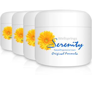 Wellsprings Serenity Cream <br/>(60ml jar) - 4 Pack