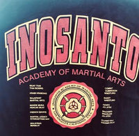 T-Shirt - Inosanto Academy - University T-Shirt - Black with Red & Gold Logo