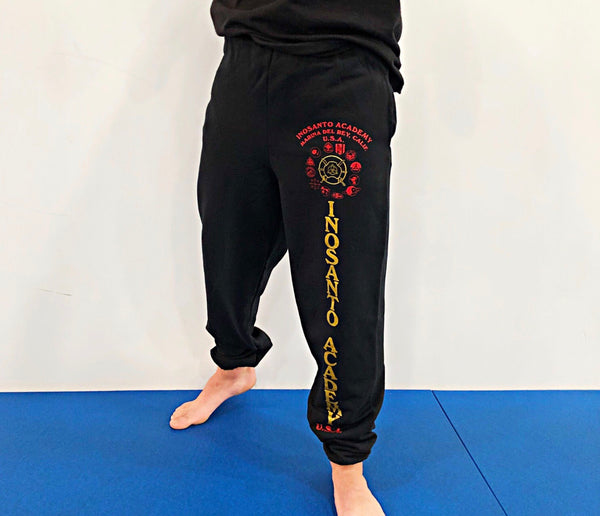 Inosanto Academy Sweatpants - Red and Gold