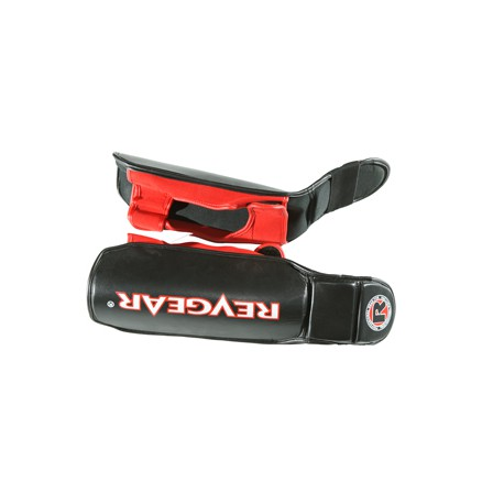RevGear Shin and Instep Guards - Black & Red