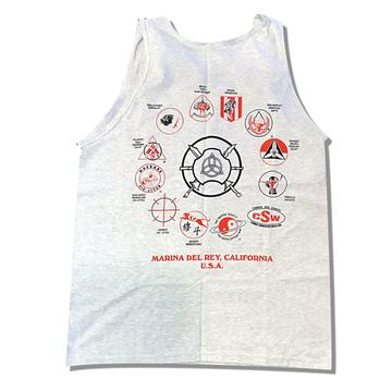 Tank Top - Inosanto Academy - School Tank Top - Gray with Red & Black Logo