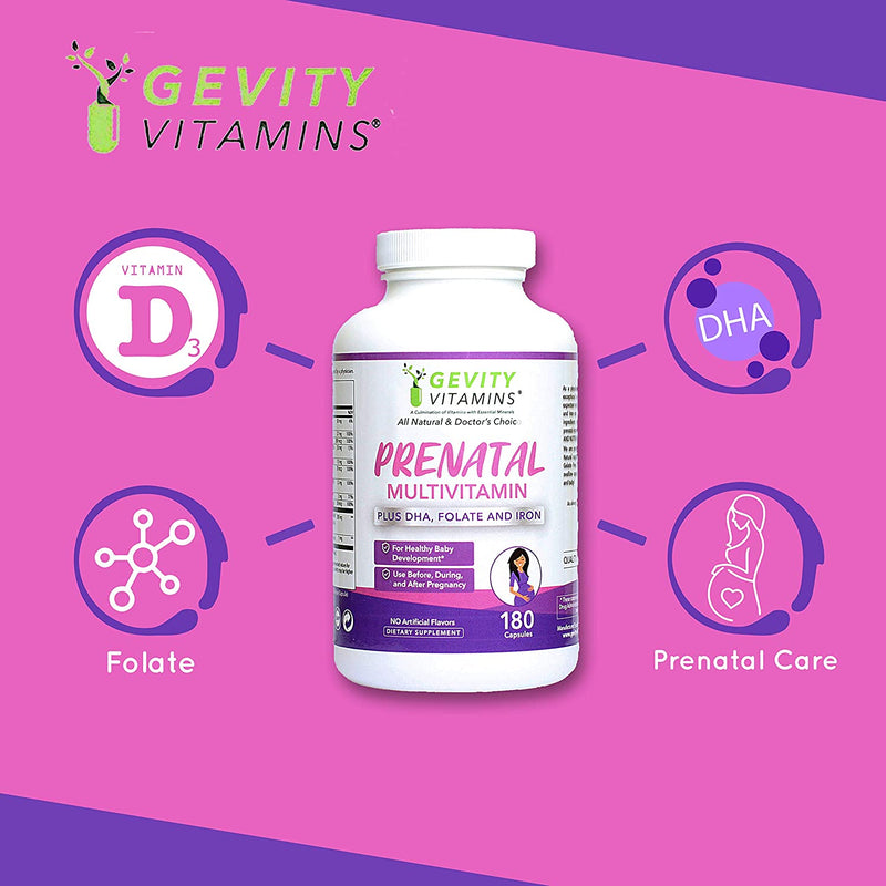 Prenatal Multivitamin Supplement - All Natural Supplement - Gevity Vitamins