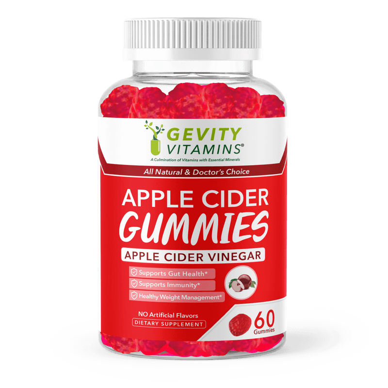 Apple cider Gummies for sale in USA from Gevity Vitamins, the leading natural health supplement manufacturer in USA. Also available in Amazon. (Apple Cider Vinegar (ACV) Gummies Gevity Vitamins )