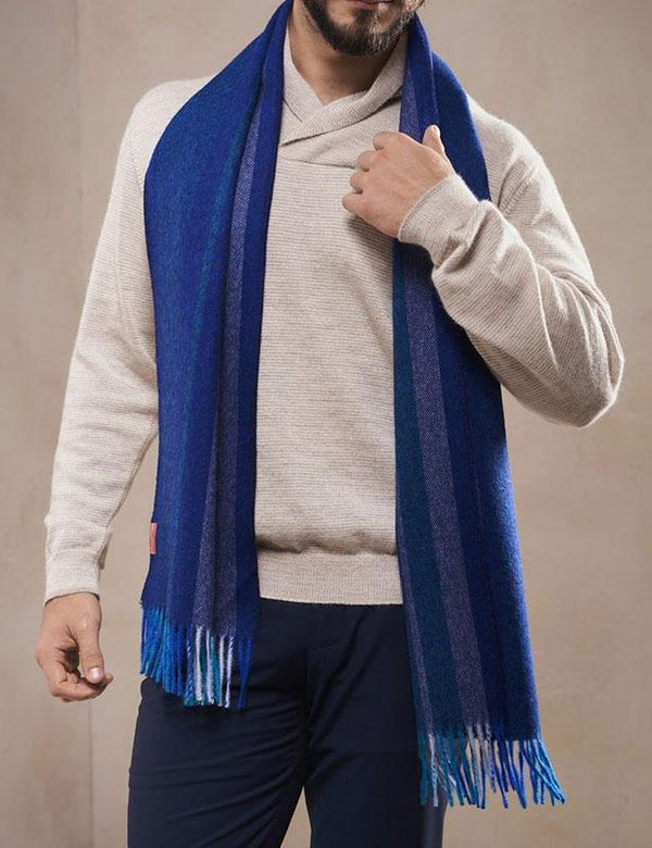 Blue Scarf for Men