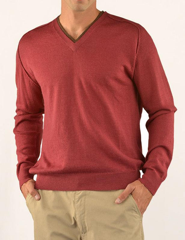 V Neck Alpaca Polo