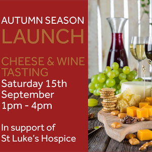 Cheese & wine tasting  Saturday September 15th