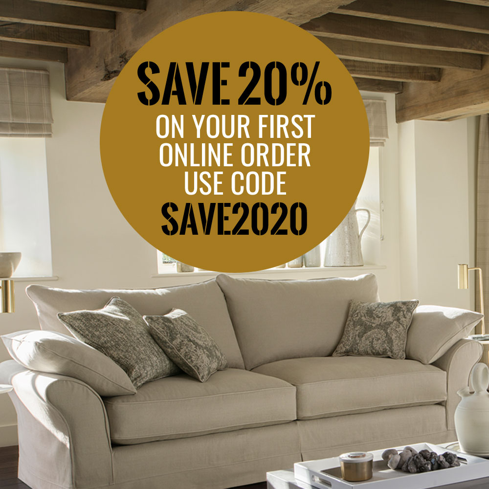 SAVE 20% on your first online order until Sunday March 22nd