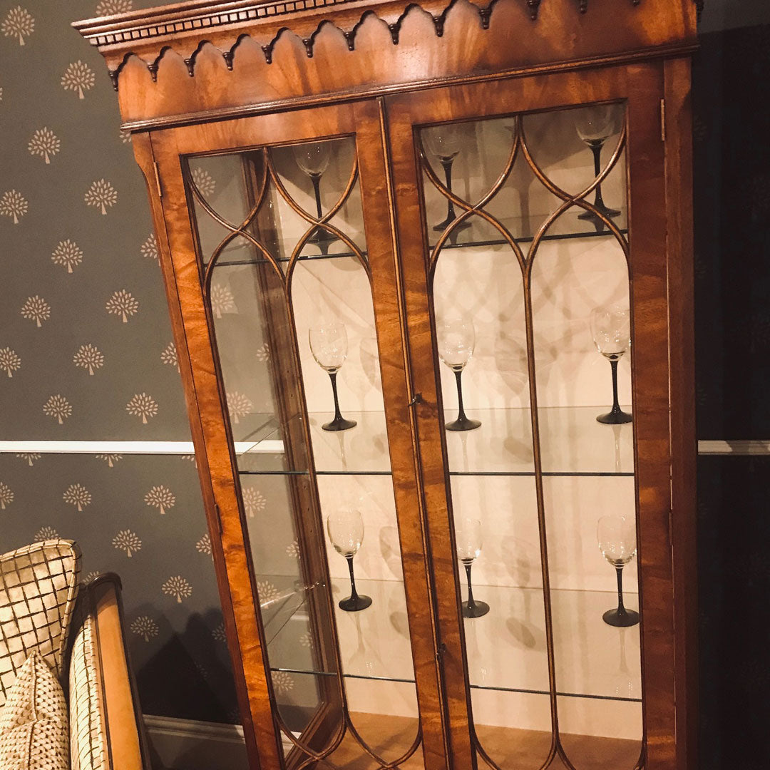 Display Cabinet in Mahogany and Yew
