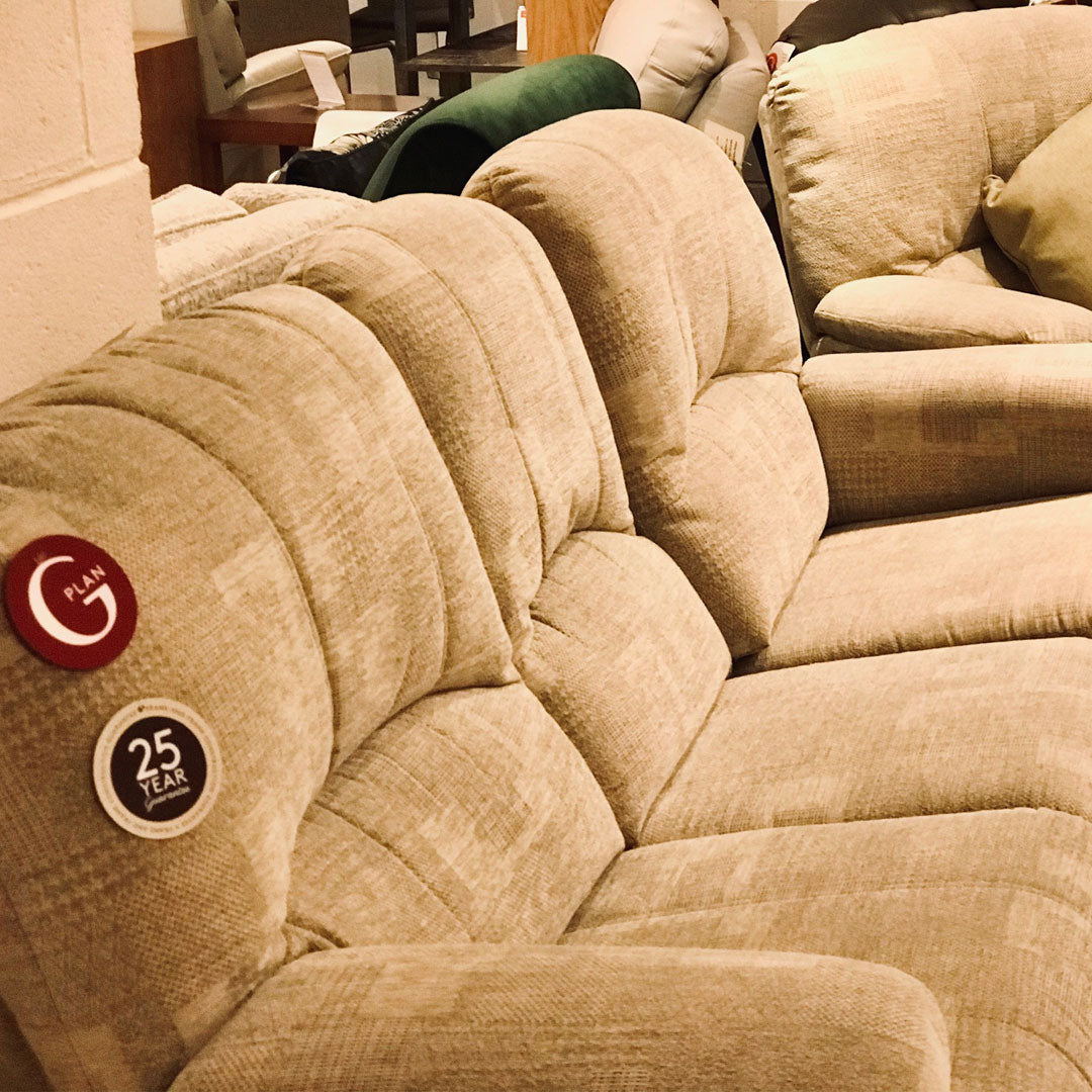 G Plan Chloe 3 Seater Sofa and Power Recliner