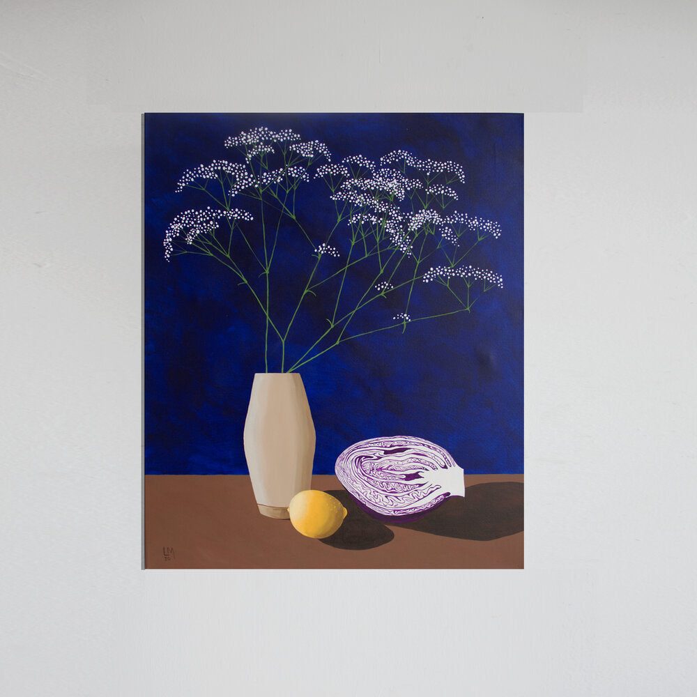 Lianne Mellor 'Gypsophila with Red Cabbage and Lemon' (2020)