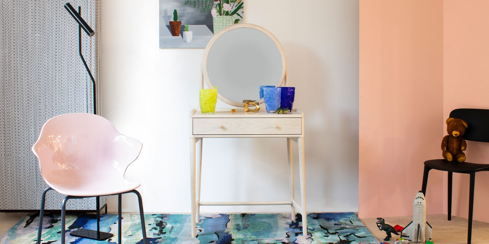 Think of creating sanctuaries in the home like our 'Calming Romance' Dressing Area