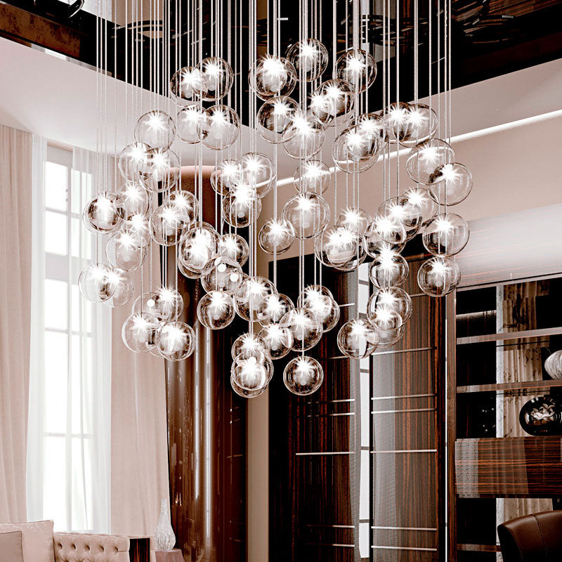 Bulles 25 Glass Chandelier