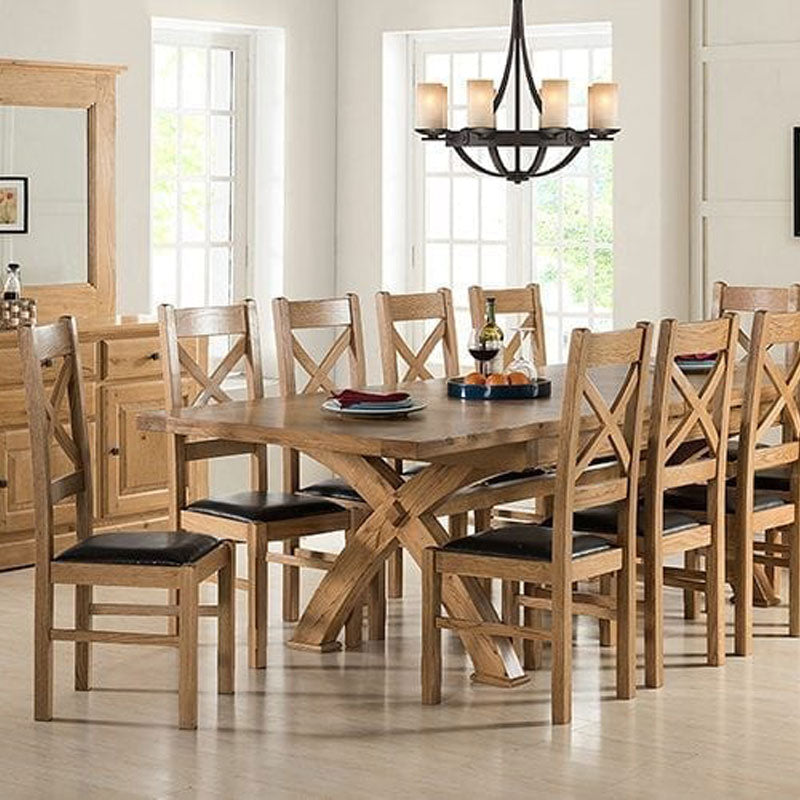 Tuscany Cross Leg Extending Dining Table
