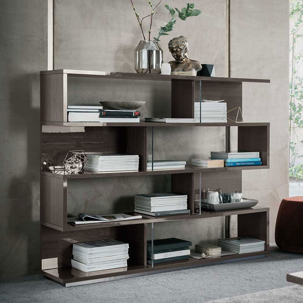 Athena High Gloss Bookcase