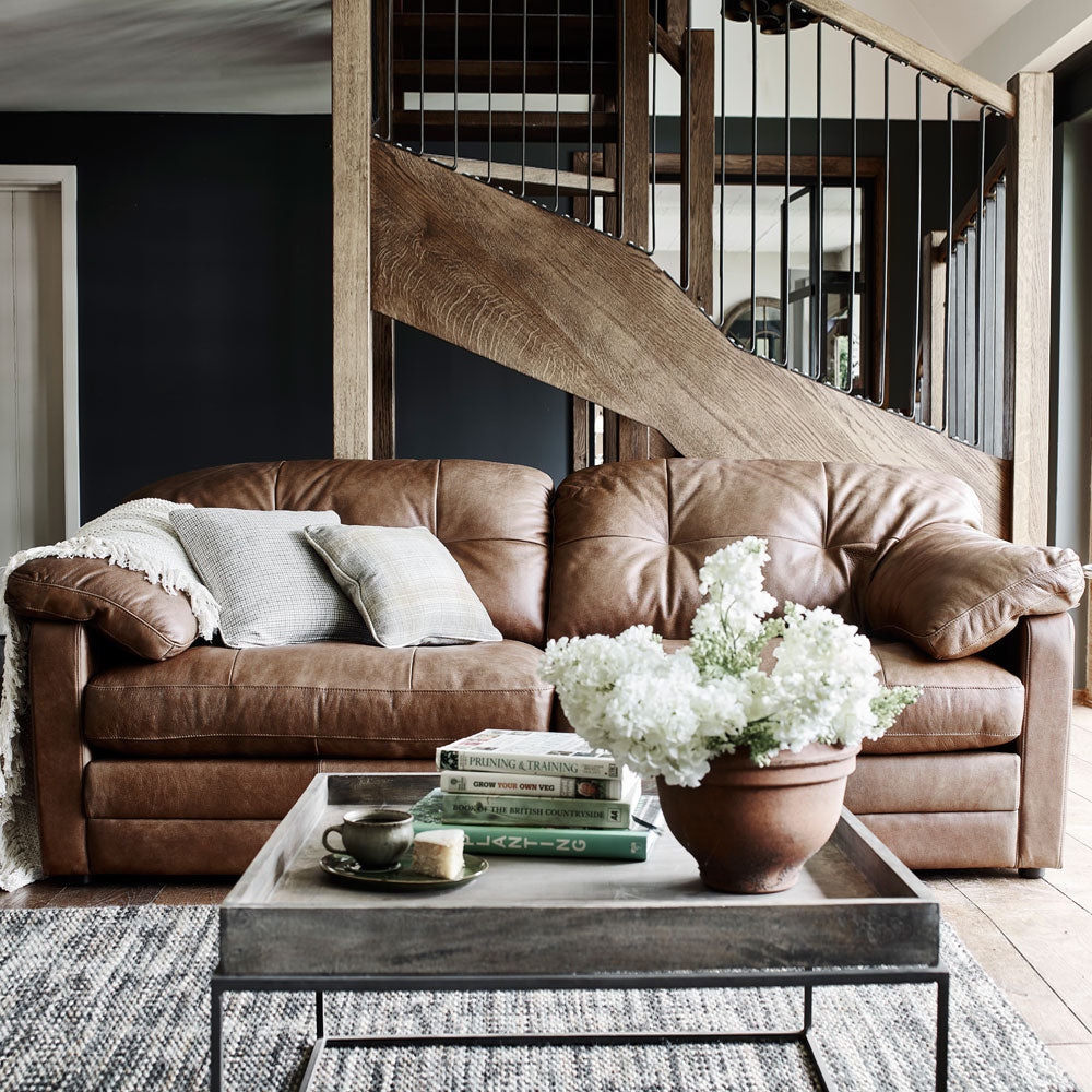 Alexander & James Bailey Leather Sofa