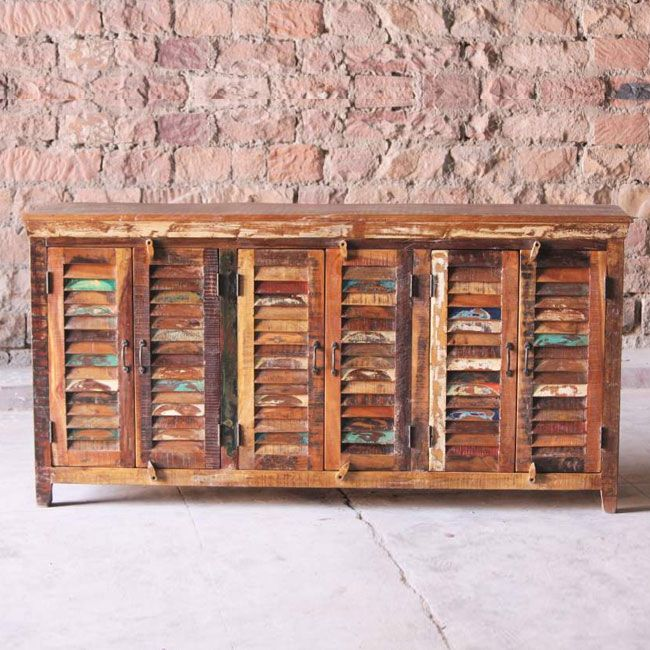Mary Rose Upcycled 6 Door Sideboard