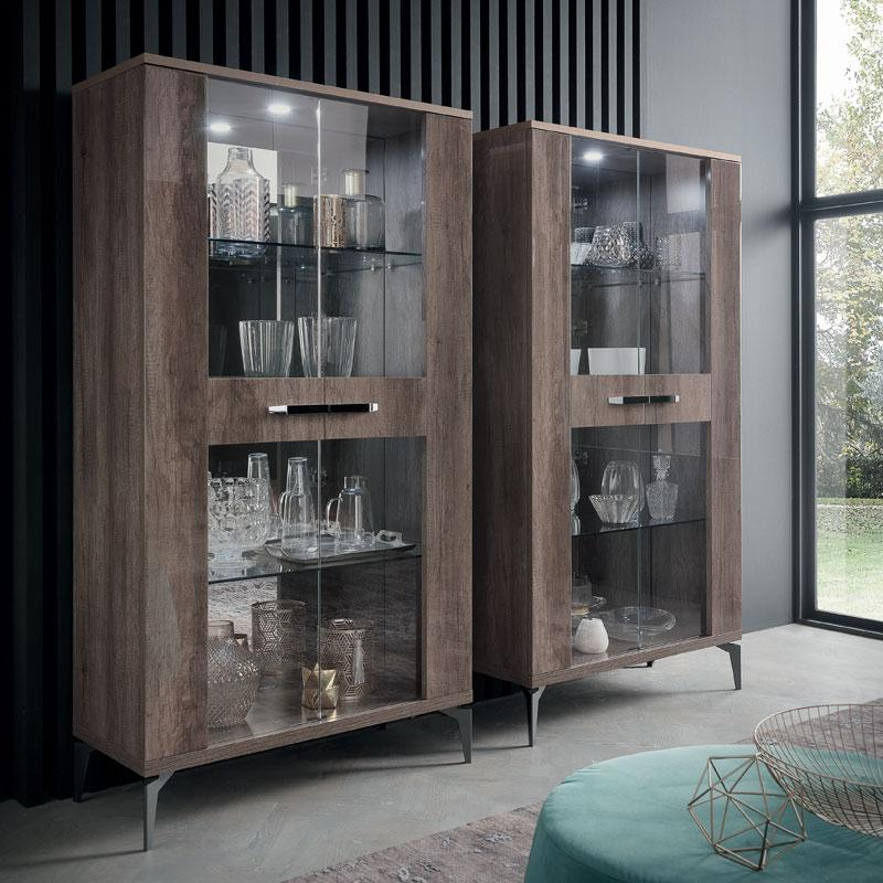 Matera 2-Door Glass Display Cabinet