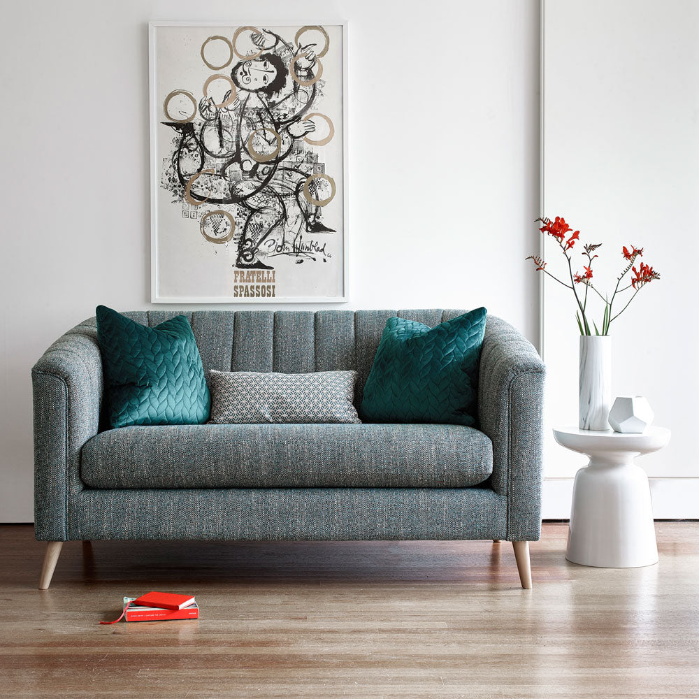 Compact Pimlico Sofa in Battersea Teal