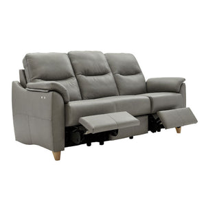 G Plan Spencer 3 Seater Power Recliner Leather Sofa Double Ponsford