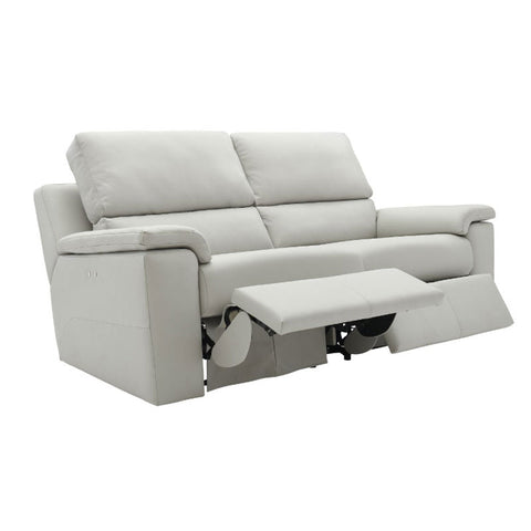 G Plan Taylor 3 Seater Manual Recliner Leather Sofa (Double)