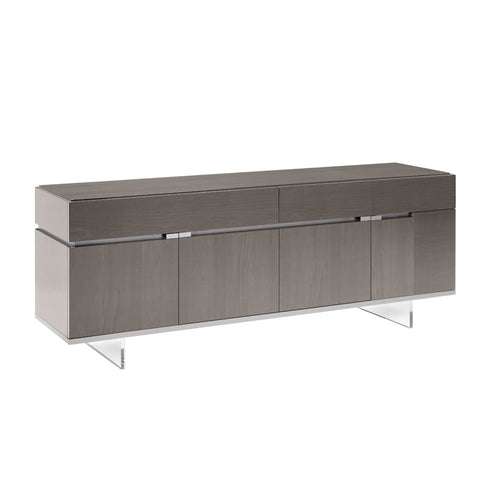 Athena 4 Door High Gloss Small Sideboard