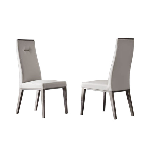 Athena Cream Leather Dining Chairs