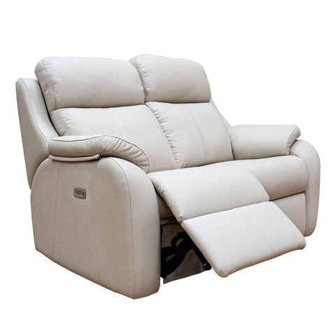G Plan Kingsbury 2 Seater Double Manual Recliner Leather Sofa