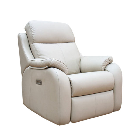 G Plan Kingsbury Power Recliner Leather Armchair with Headrest & Lumbar Support