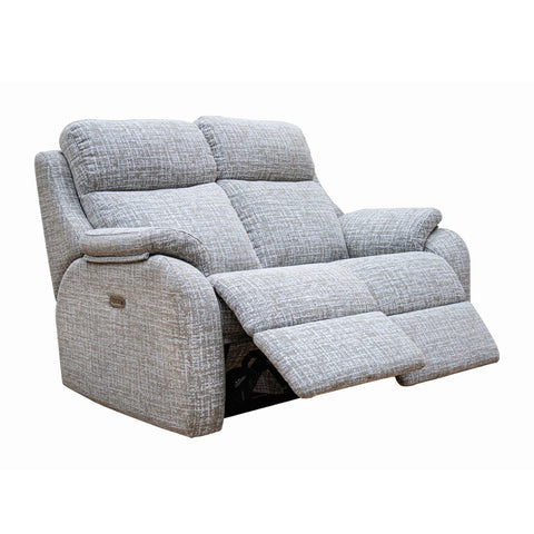 G Plan Kingsbury 2 Seater Double Power Recliner Fabric Sofa with Headrest & Lumbar Support