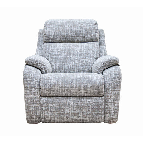 G Plan Kingsbury Power Recliner Fabric Armchair with Headrest & Lumbar Support