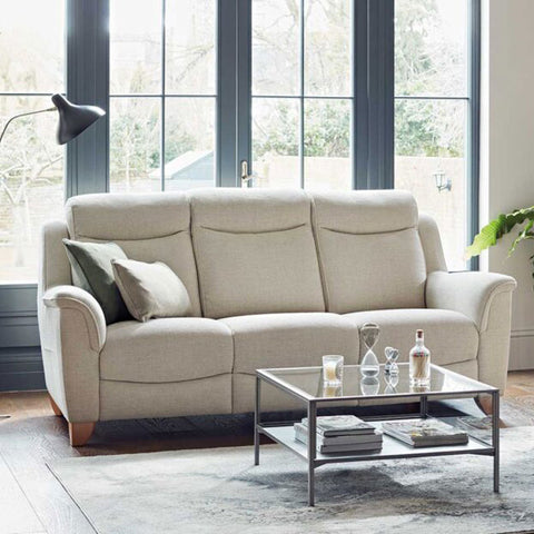 Parker Knoll Manhattan 3 Seater Power Recliner Sofa - Single Motor