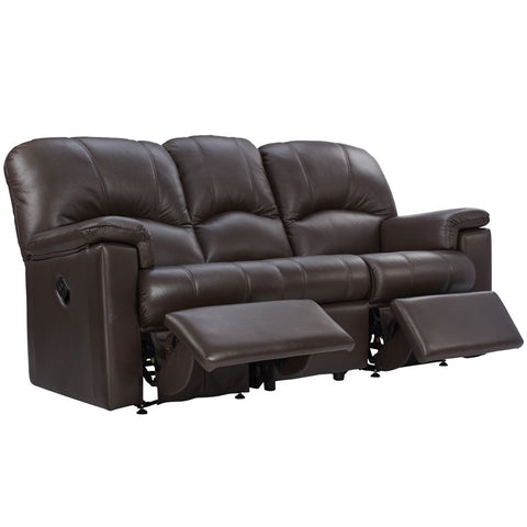 G Plan Chloe 3 Seater Manual Recliner Leather Sofa (Double)