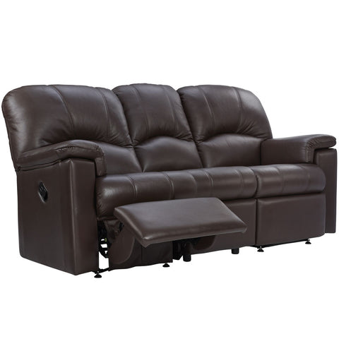 G Plan Chloe 3 Seater Manual Recliner Leather Sofa