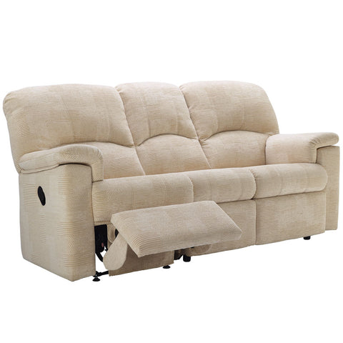 G Plan Chloe 3 Seater Power Recliner Fabric Sofa