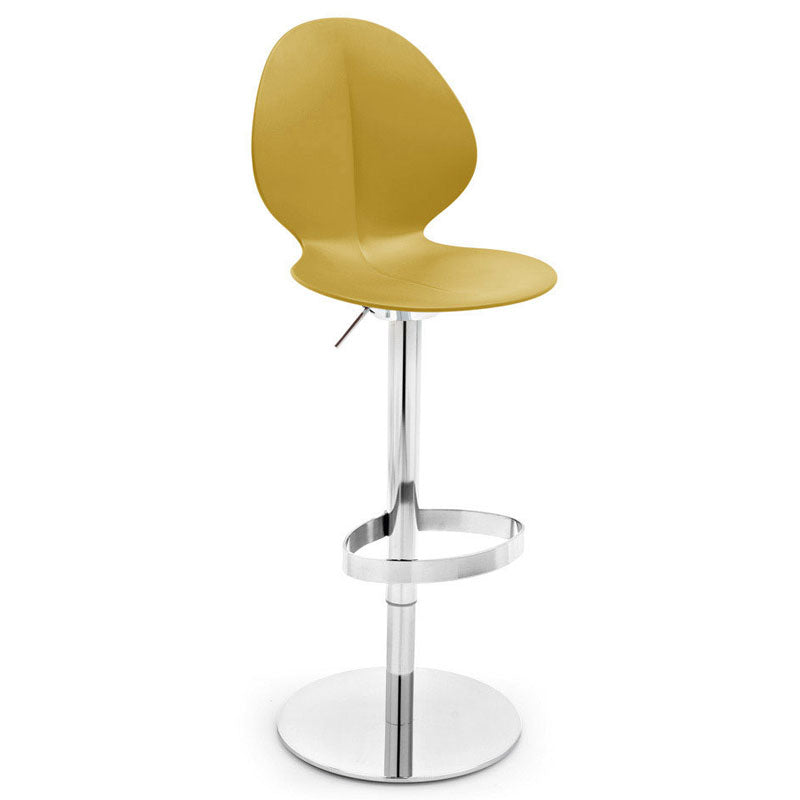 Calligaris Basil Stool with Gas-Lift Metal Base