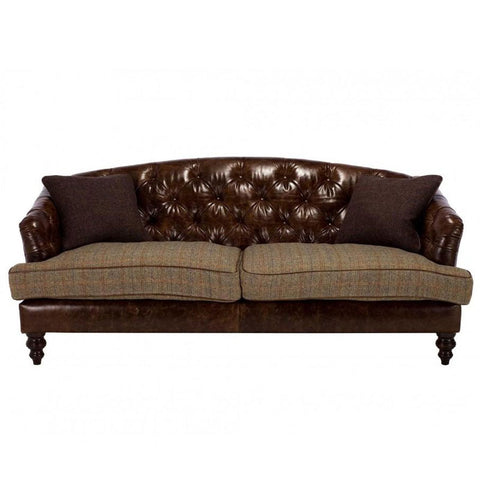 Tetrad Harris Tweed Dalmore Midi Sofa - Option B (Leather & Tweed)