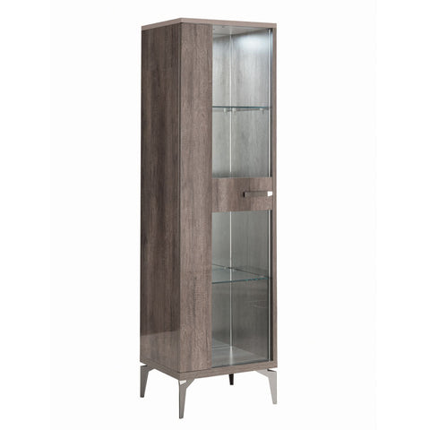 Matera 1 Door Glass Display Cabinet